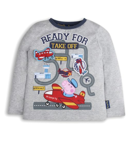Mini Club Boys Long Sleeve Top George Pig