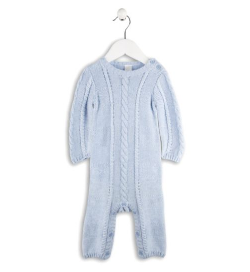 Mini Club Baby Boys All in One Knit Blue