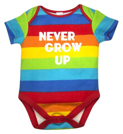 Mini Club Baby Unisex Bodysuit Stripe 'Never Grow Up'