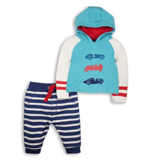 Mini Club Baby Boys 2 Piece Set Blue Car
