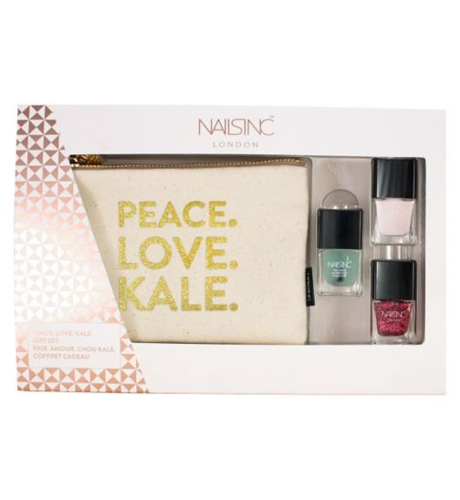 Nails inc 'Peace Love Kale' gift set