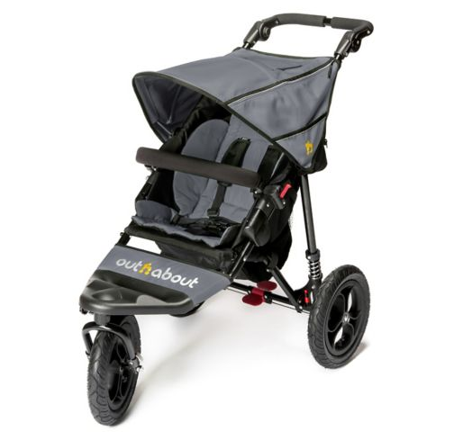 Out 'n' About Nipper Single V4 Pushchair - Steel Grey