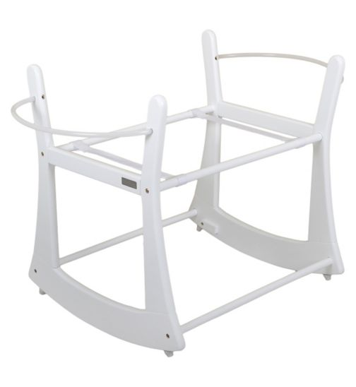 Moba Rocking Moses Basket Stand - White