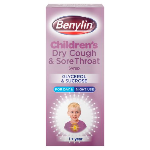 Benylin Children's Dry Cough and Sore Throat Syrup 1+ Year 125ml