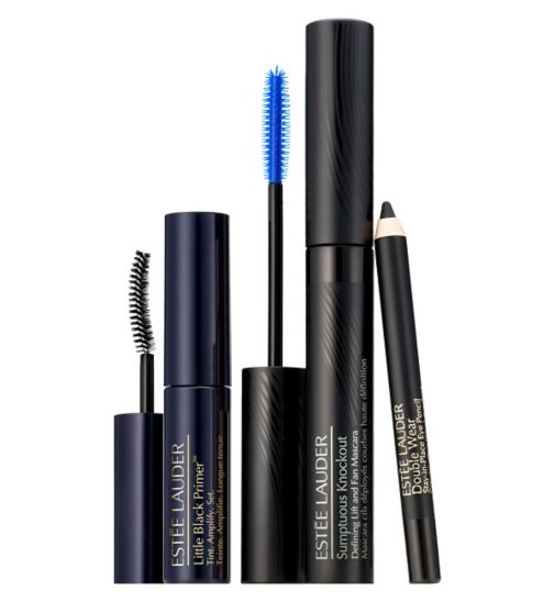 Estee Lauder Knockout Lashes. Featuring Sumptuous Knockout Mascara set