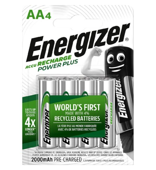 Energizer Power Plus Recharge Battery AA x 4s
