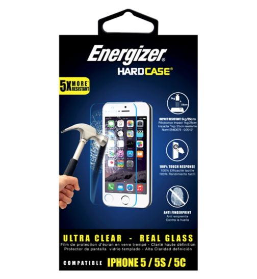 Energizer iPhone 5/5SE 0.4mm Glass Screen Protector
