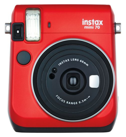 Fujifilm Instax Mini 70 Camera in Passion Red Plus 10 Instant Film Shots