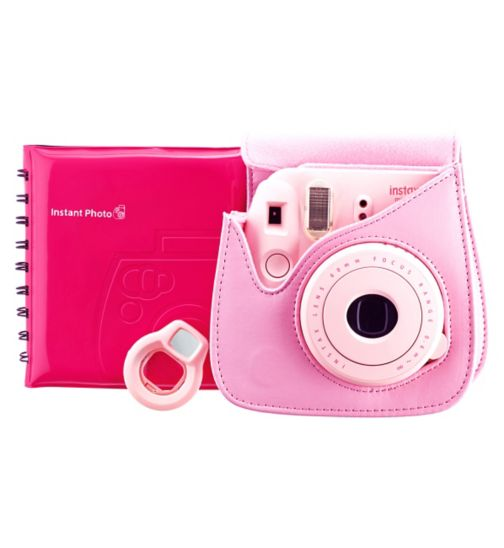 Fujifilm Instax Mini 8 Instant Camera Accessory Kit Pink