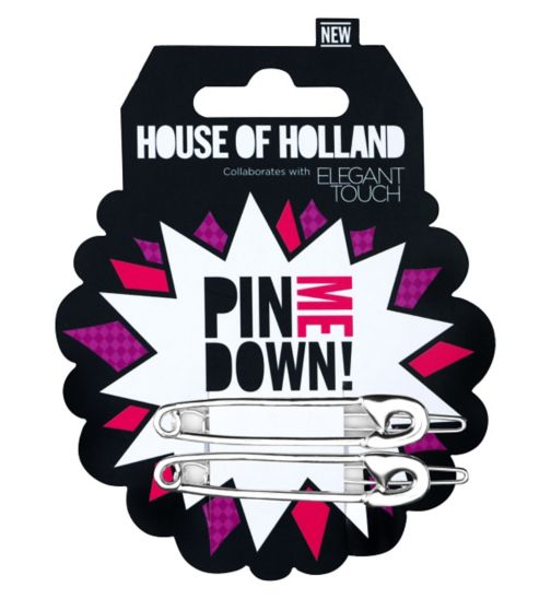 Elegant Touch  House of Holland Hair Safety Pin Slides 2s