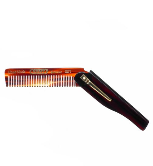 Kent Mens Pocket Folding Comb A 20T