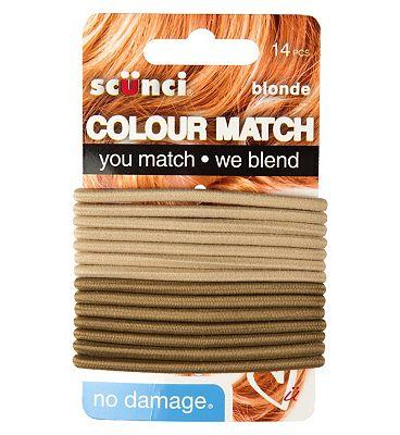 Scunci Colour Match Blonde Elastics 14s