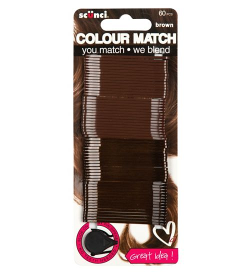 Scunci Colour Match Brown Bobby Pins 60s