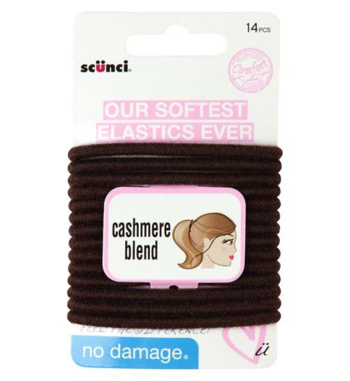 Scunci Comfort Cashmere Brown Elastics 14s