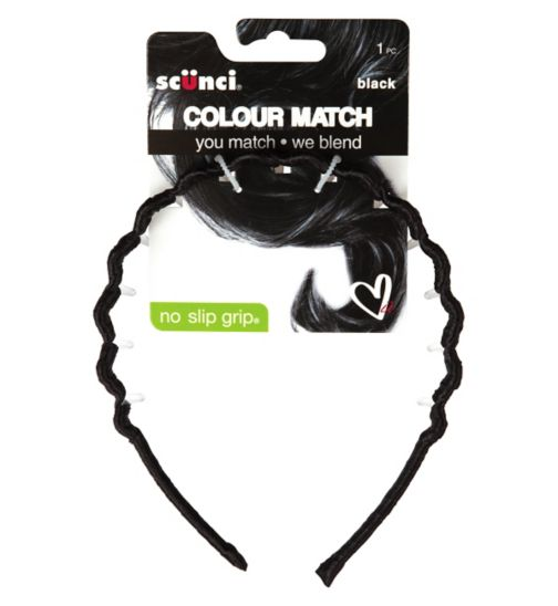 Scunci Colour Match Tooth Headband Black