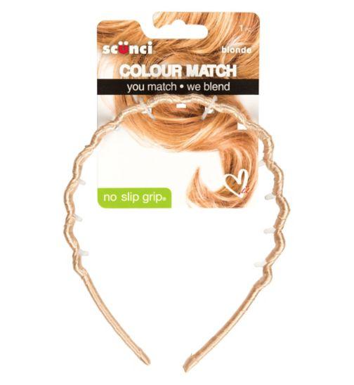 Scunci Colour Match Tooth Headband Blonde