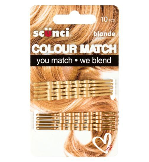 Scunci Colour Match Wavy Blonde Bobby 10S