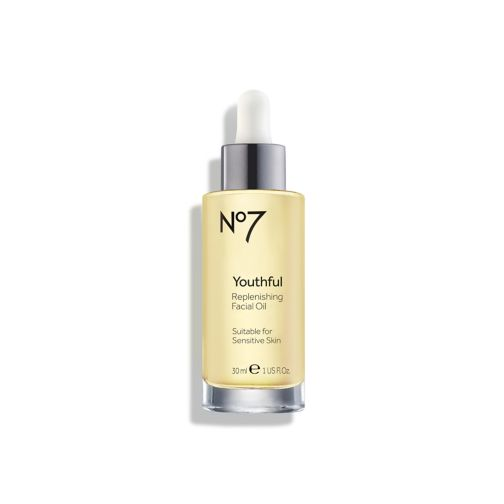 No7 Youthful Replenishing Facial Oil.