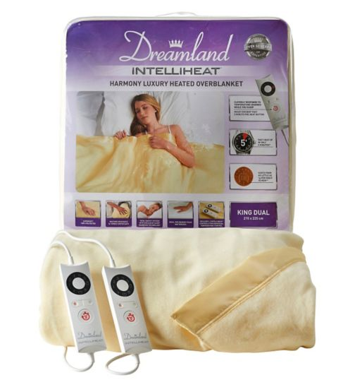 Dreamland Intelliheat Harmony Luxury Heated Overblanket - King Dual Control