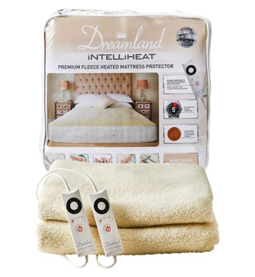 Dreamland Intelliheat Premium Fleece Heated Mattress Protector - King Dual Control