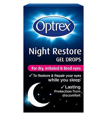 Optrex Night Restore Gel Drops - 10ml