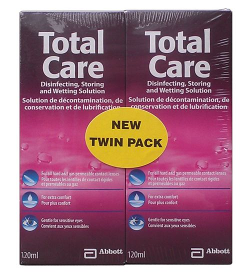 Blink TotalCare Disinfecting, Storing and Wetting Solution - 2 x 120ml