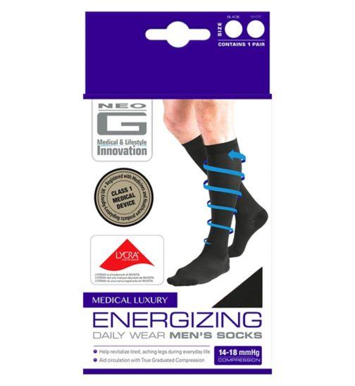 Neo G Energizing Daily Wear Men's Socks Black - Extra Large