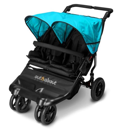 Out 'n' About Little Nipper Double Pushchair - Marine Blue
