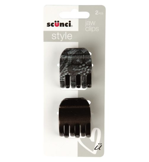 Scunci Style Lace Print Jaw Clips 2pk