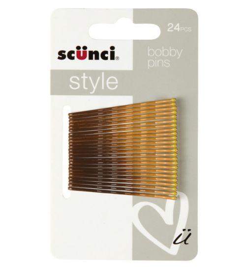 Scunci Style Ombre Bobby Pins 24pk Brunette/Blonde