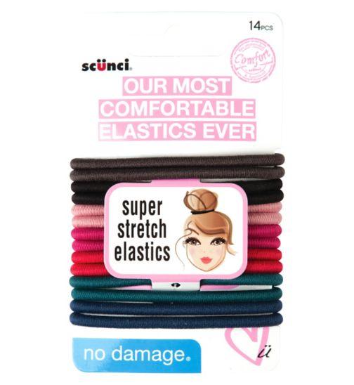 Scunci Super Stretch Comfort Elastics 14pk