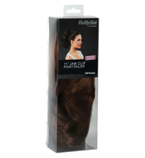 Babyliss Faux Hair Short Ponytail Light Brunette
