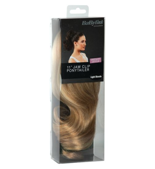 Babyliss Faux Hair Short Ponytail light Blonde