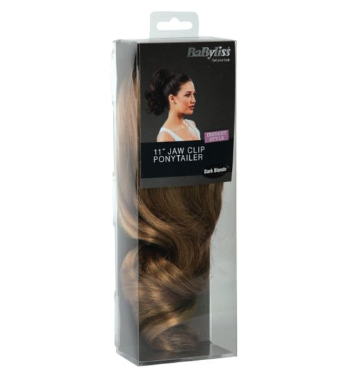 Babyliss Faux Hair Short Ponytail Dark Blonde