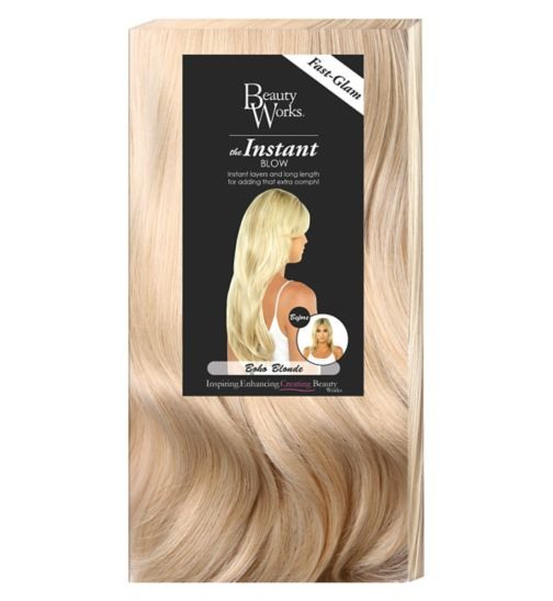 Hair extensions hair accessories hair beauty skincare boots beauty works the instant blow boho blonde pmusecretfo Gallery