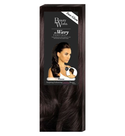 Hair extensions hair accessories hair beauty skincare beauty works the wavy ponytail raven pmusecretfo Gallery