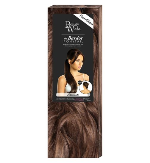 Hair extensions hair accessories hair beauty skincare boots beauty works the bardou ponytail chocolate pmusecretfo Choice Image