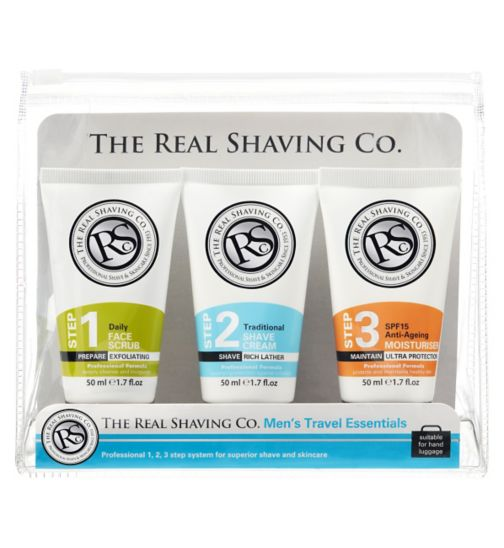 The Real Shaving Co. Men's Travel Essentials 3 x 50ml