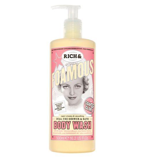 Soap & Glory Rich & Foamous shower & bath body wash 500ml