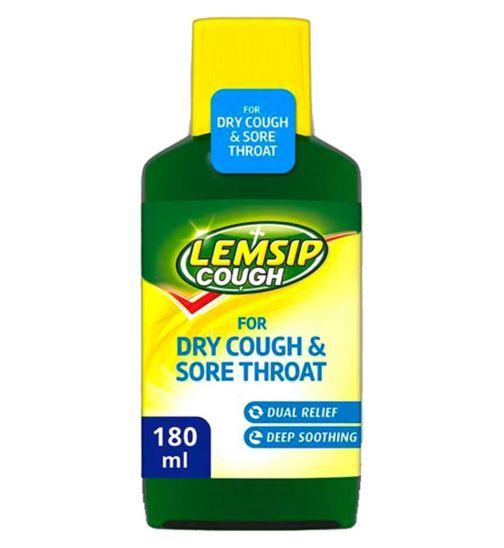 Lemsip Cough for Dry Cough & Sore Throat 180ml