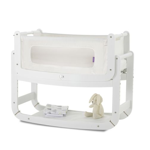 SnuzPod² Bedside Crib 3-in-1 White with Mattress