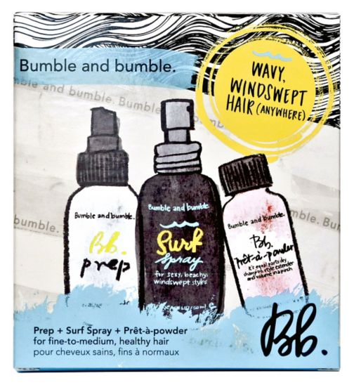 Bumble & bumble wavy, windswept hair travel set