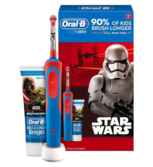 Oral-B Stages Kids Electric Toothbrush featuring Disney Star Wars