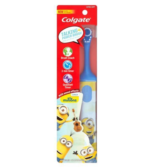 Colgate Minions Talking Extra Soft Kids Battery Toothbrush