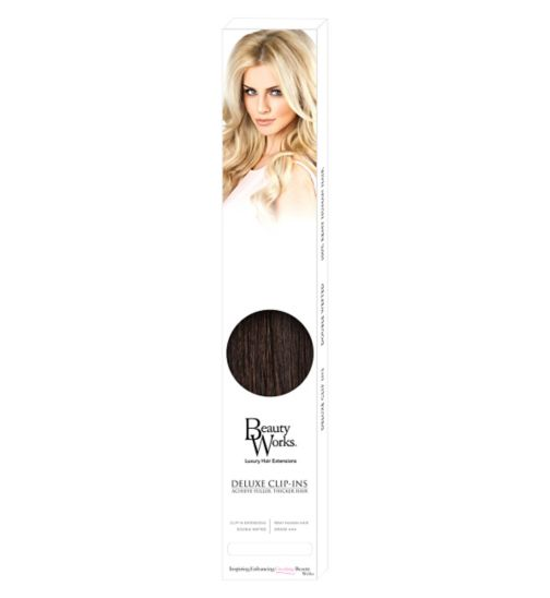 Hair extensions hair accessories hair beauty skincare boots beauty works deluxe clip in extensions raven pmusecretfo Choice Image