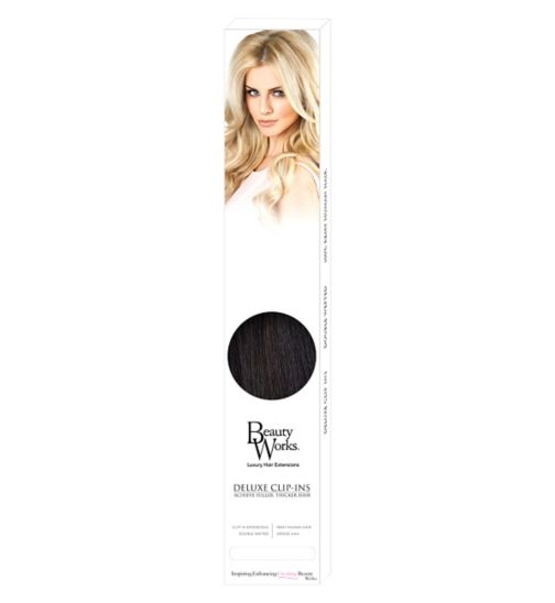 Beauty Works Deluxe Clip-In Extensions - Ebony
