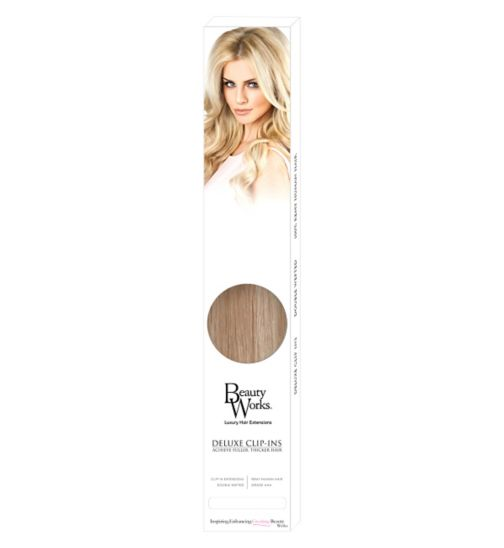 Beauty Works Deluxe Clip-In Extensions - Champagne Blonde