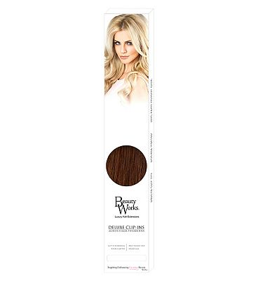 Beauty Works Deluxe Clip-In Extensions - Caramel