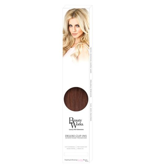 Beauty Works Deluxe Clip-In Extensions - Chocolate