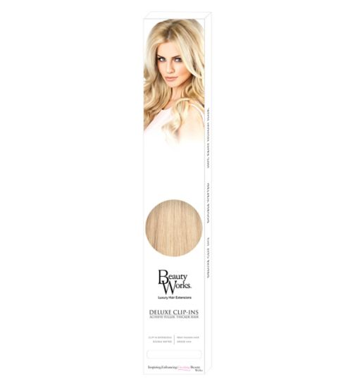 Beauty Works Deluxe Clip-In Extensions - LA Blonde